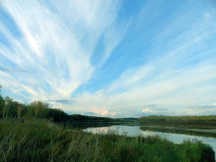 Бездонное небо над Чумышом