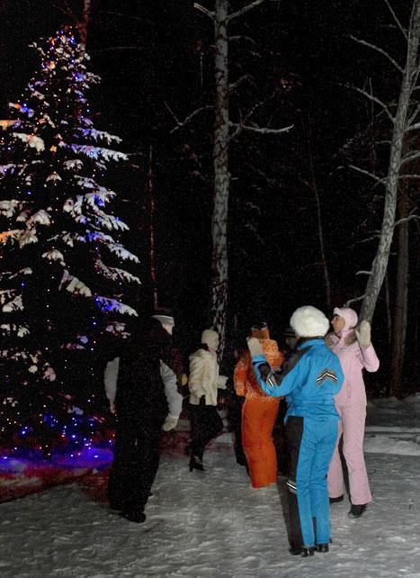 Зимняя дискотека у Елки